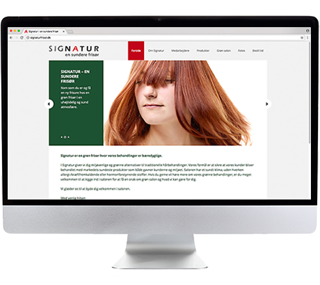 Grafisk design af hjemmesider, ph7 kommunikation