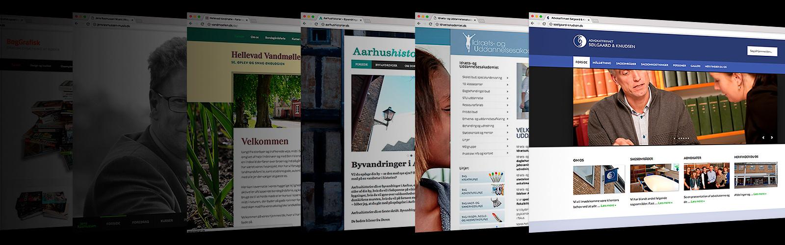 Grafisk design og implementering af hjemmesider, ph7 kommunikation